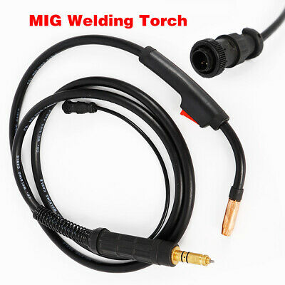 Black 100a Heavy Duty Mig Welding Torch Gun For Miller M-10 M-100 3m10ft Cable