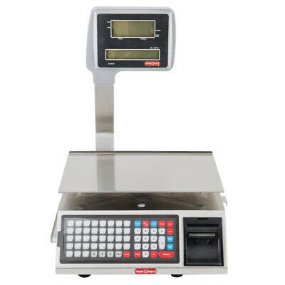 Tor-rey W-label40l 40 Lb. Wi-fi Price Computing Scale With Thermal Label Printer