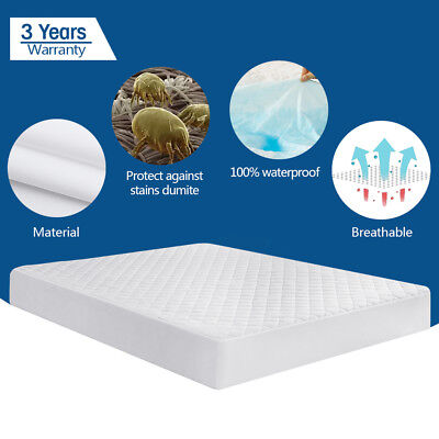 Quilted Mattress Covers - Quilted Mattress Pad Cover Protector Fitted Bed Sheet Topper Bug Dust Bedspread