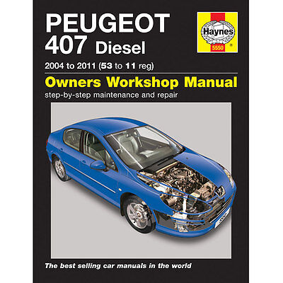 New Haynes Manual Peugeot 407 Diesel 04-2011 Car Workshop Repair Book 5550