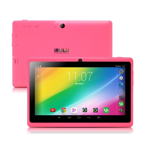 irulu 7 pink tablet pc google play android 4 4 quad core. Black Bedroom Furniture Sets. Home Design Ideas