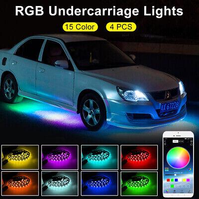 RGB 15 Color Exterior Car Lights App Control Music Mode DIY Undercarriage DC 12V