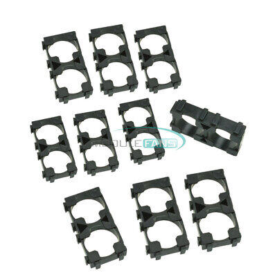 41050pcs 1x2 18650 Battery Radiating Shell Pack Plastic Heat Holder Spacer