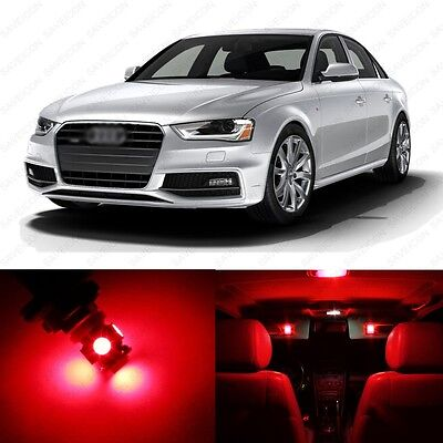 18 x Red LED Interior Light Package For 2009 - 2016 Audi A4 S4 B8 + PRY TOOL