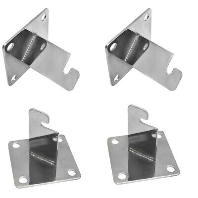 4 Pc Chrome 3 X 3 Gridwall Wall Bracket Mount Grid Panel Mount Mounting Brackets