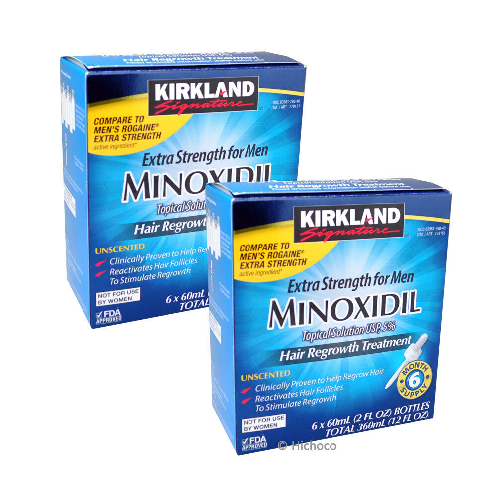 Kirkland Minoxidil 5% Extra Strength Men Hair Regrowth 12 Month (1 Year) Supply | eBay