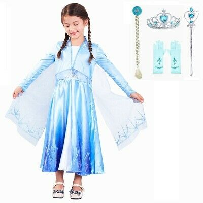 Elsa Dress 2019 Costume Girls Cosplay Princess Christmas Party + Accessories