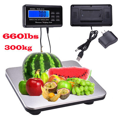 New 660lb0.1lb Digital Scale Bench Scale Digital Shipping Postal Scale Platform