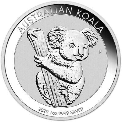 2020 P Australia Silver Koala 1 oz $1 - BU