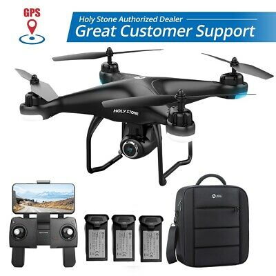 Devout Stone FPV GPS Drone with 1080P Camera HS120D Wifi Quadcopter 3 Battery +Bag
