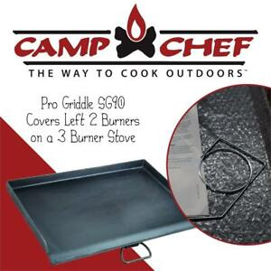 NEW Camp Chef Pro Griddle SG90-Covers Left 2 Burners on a 3 Burner Stove Condtion: New