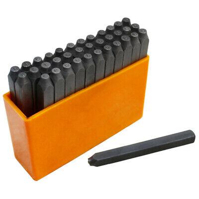 """Set 36 Pcs 1/16"""" 1.5mm Steel Punch Stamp HandMarking Punch Font Letter & Number"""