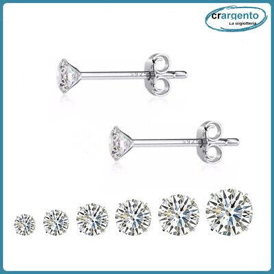orecchini uomo punto luce argento 925 brillantini zirconi donna in da con per