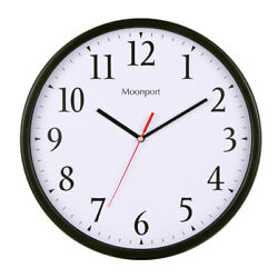 12 Inch Wall Clock,Silent Non-Ticking Quartz Battery Operated Round Easy to Read
