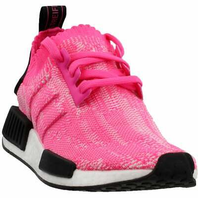 adidas NMD_R1 Primeknit Sneakers Casual    - Pink - Womens Adidas Pink Sneakers
