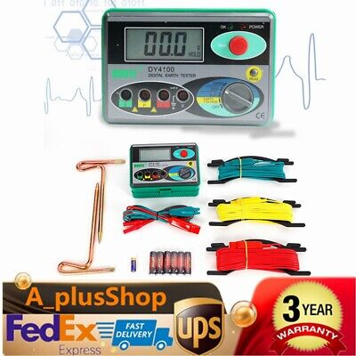 Dy4100 Digital Earth Ground Resistance Tester Meter 0.01 Resolution Usa