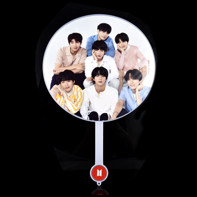 Portable Mini Hand Fan Kpop BTS Bangtan Boys V Suga Transparent PVC Fan Summer