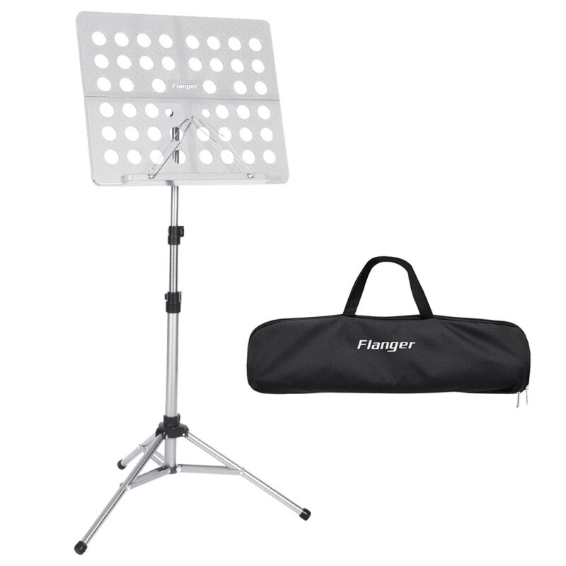 Adjustable Folding Music Conductor Sheet Metal Tripod Stand Holder Base Foldable