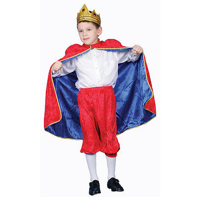 Kings Costume For Kids (Deluxe Red Royal King Costume Set For Kids Boys By Dress up)