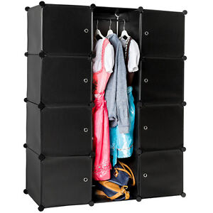 etag re enfichable armoire penderie v tements rangement. Black Bedroom Furniture Sets. Home Design Ideas