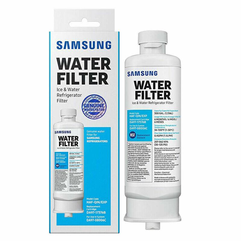 1 Pack Samsung DA97-17376B HAF-QIN Refrigerator Water Filter DA97-08006C