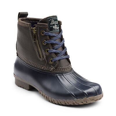 Boots - G.H. Bass & Co. Women's Danielle Leather Waterproof Duck Boot Chocolate/Navy