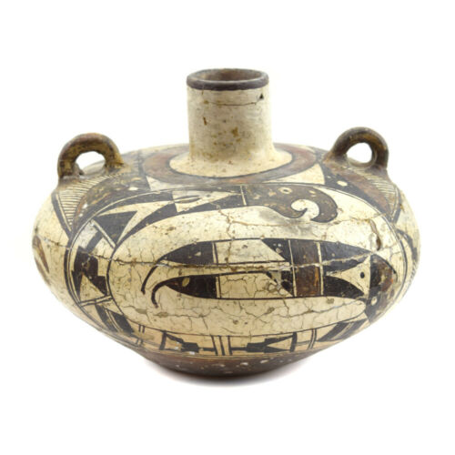 """Acoma Polychrome Olla with Handles, c. 1860s-70s, 7.25"""" x 8.25"""" """"SOLD AS IS"""""""