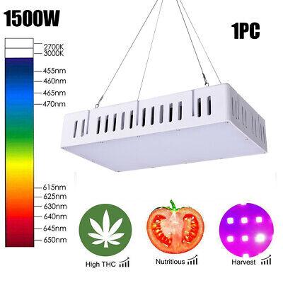 1500W Full Spectrum LED Grow Lights Veg Bloom Greenhouse Lamp UK Medical Plants
