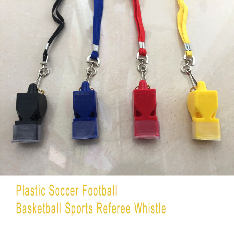 4-Color fox40 Referee Safety Whistles Football Basketball So