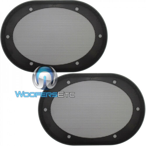 """(2) UNIVERSAL 5""""x7"""" / 6""""x8"""" SPEAKER COAXIAL COMPONENT PROTECTIVE GRILLS COVERS"""