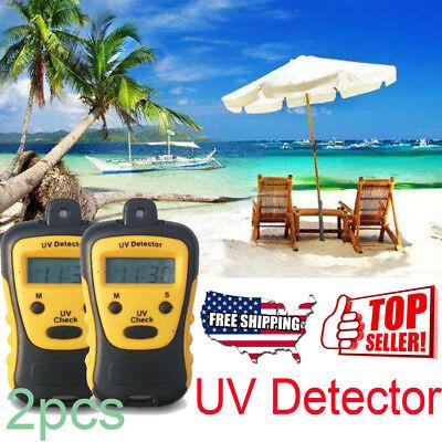 2pcs High Precision Uv Detector Uv Strength Tester Uv Measuring Photometer Usa