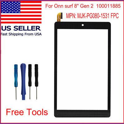 "Onn Surf  8"" Tablet Gen 2 100011885 2APUQW829 Touch Screen Digitizer Replacement"