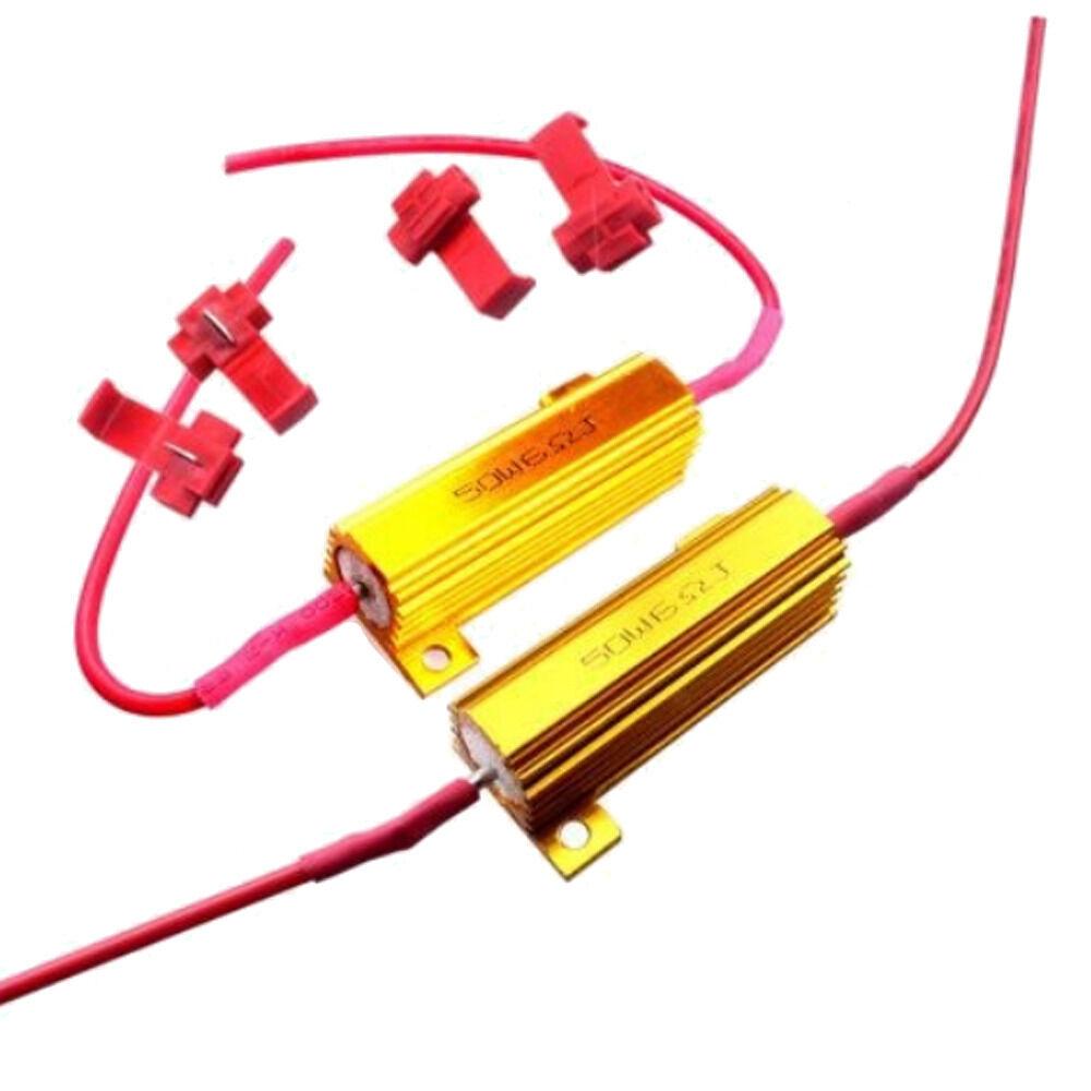 4x 50w 8 Ohm Load Resistor Fix Led Bulb Fast Hyper Flash