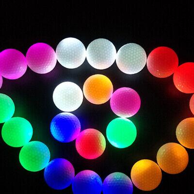 Light Up Golf Balls (Colorful Sports LED Golf Balls Glow in the Dark Night Light Up Luminous)
