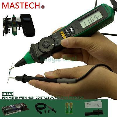 Mastech Ms8211 Auto Range Digital Pen Multimeter Meter Ac Dc Voltage Resistance