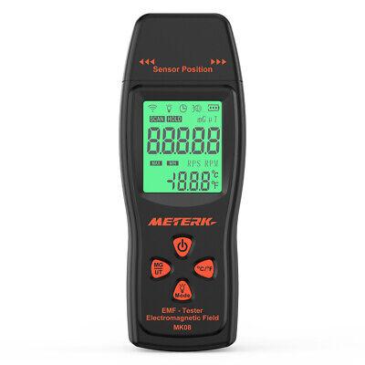 Meterk MK08 Handheld EMF Meter LCD Digital Electromagnetic Radiation Detector US