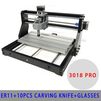 Metal Cnc 3018 Pro Machine Engraving 2in1 Pcb Wood Diy Mill 500mw Laser Head Us
