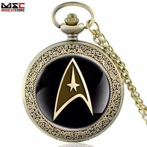 Bronze Gold Star Trek Pocket Watch Quartz Pendant - NEW. Gateshead Lake Macquarie Area Preview