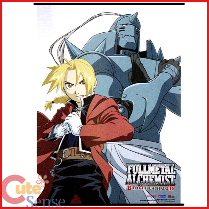 Fullmetal Alchemist Brotherwood Wall Scroll Edward Elric Alphonse Poster by GE