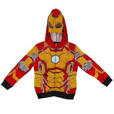 Iron Man Mark 42 Costume Marvel Boys & Toddler Zip Up Hoodie ()