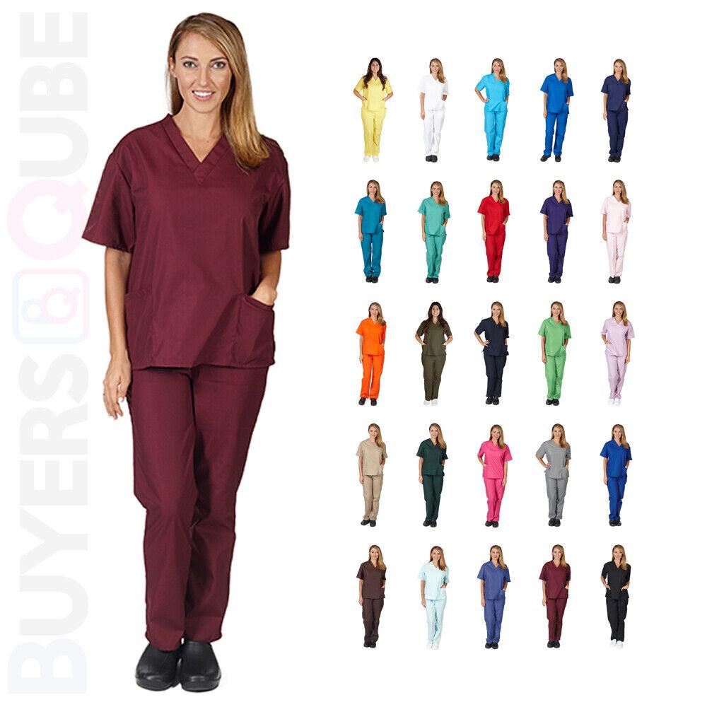 New Unisex Men/Women Uniform Scrub Set Medical Hospital Nurs