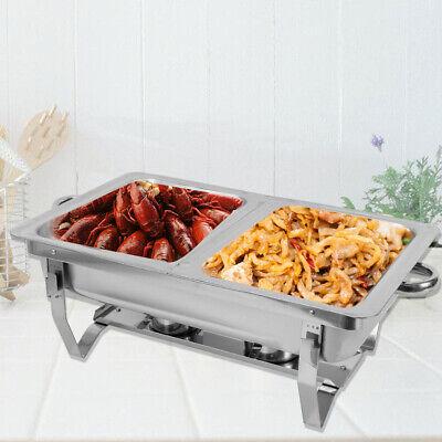 Chafing Dish Speisenwärmer Edelstahl Warmhaltebehälter Wärmebehälter Set 7,5L DE Chafing Dish Set