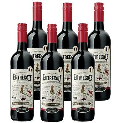 6 x Entrecote Merlot Cabernet-Sauvignon Syrah Rotwein Halbtrocken 14% vol 75cl