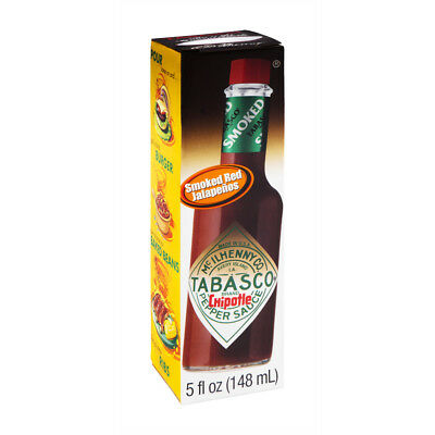 NEW TABASCO CHIPOTLE FLAVOR PEPPER SAUCE 5 FL OZ SMOKED RED JALAPENOS FREE SHIP for sale  Shipping to Canada