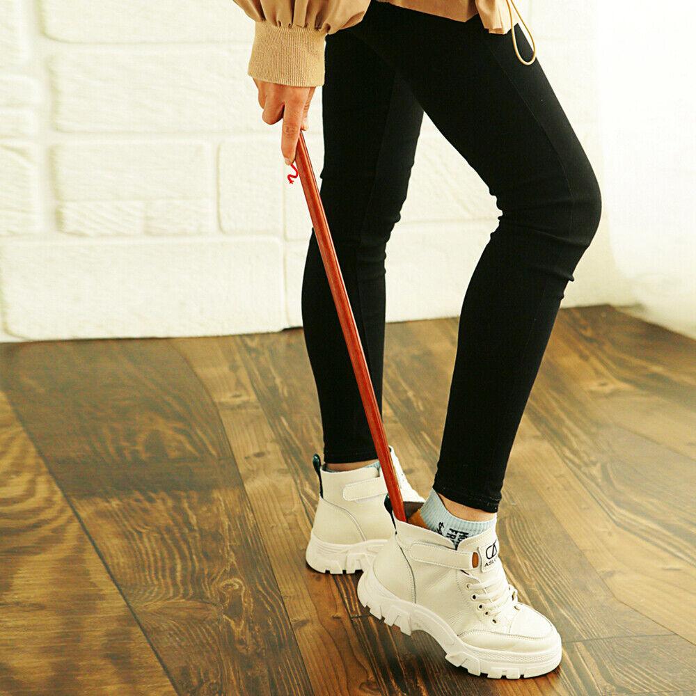 Wood Shoe Horn 21.5 inch/55cm Shoe Horn Long Handle Reach Easy On Shoehorn