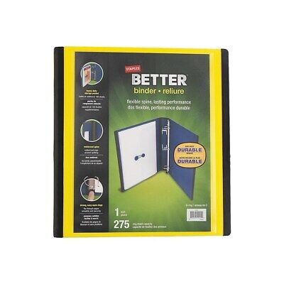 Staples Better 1-Inch D 3-Ring View Binder Yellow  827601