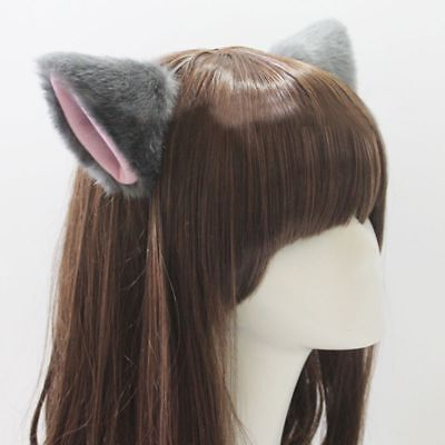 Fashion Neko Halloween Cat Cosplay Costume Hair Clip Fox Long Fur Ears (Neko Halloween Costumes)