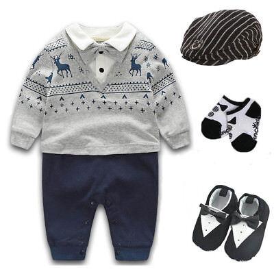 Newborn baby boy party birthday gift bodysuit+hat+socks+shoes baby shower gift](Birthday Boy Hat)