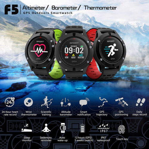 no.1 F5 Frequenza Cardiaca Monitor sonno Smart Watch GPS IP67 IMPERMEABILE