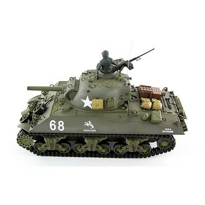 Radio Control 2.4GHZ HENG LONG SHERMAN M4A3 HOWITZER BB SMOKE SOUND Battle Tank